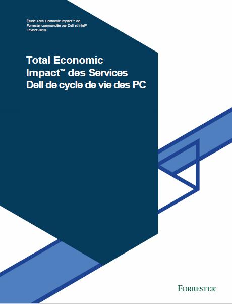 Étude Total Economic Impact™ sur les services de cycle de vie des PC de Dell