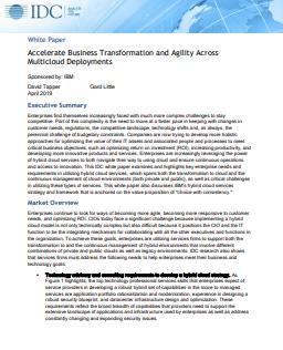 Accélérer la transformation de l'entreprise et l'agilité avec les déploiements multicloud