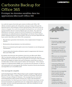 Carbonite backup for Office 365 : une solution de protection pour vos terminaux d'entreprise