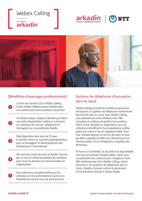 Bénéficiez d'avantages professionnels: Webex Calling