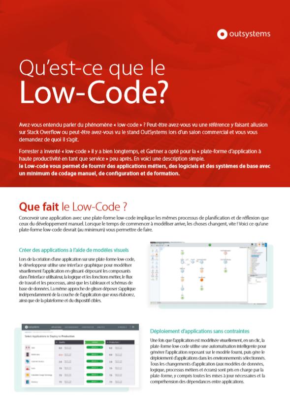 Qu'est-ce que le Low-Code?