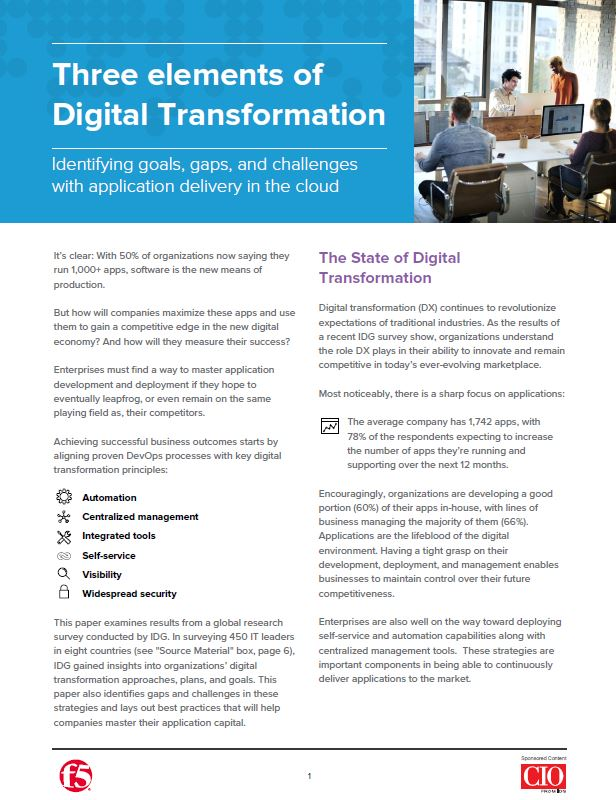 Trois éléments pour une transformation digitale