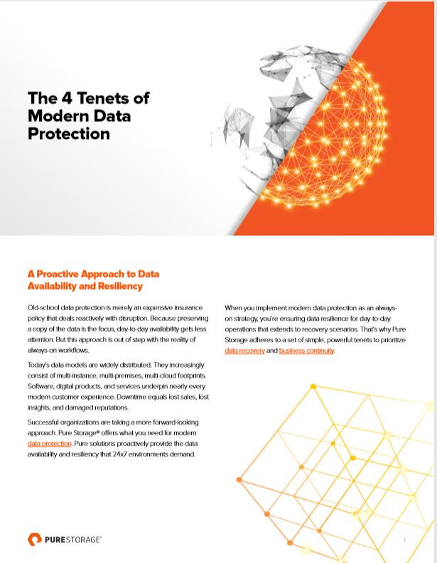 Les 4 principes de la protection moderne des données