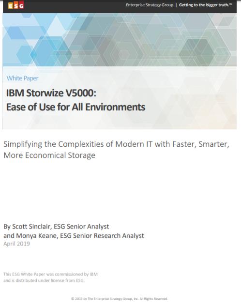 IBM Storwize V5000: Utilisation facile pour tout environnement