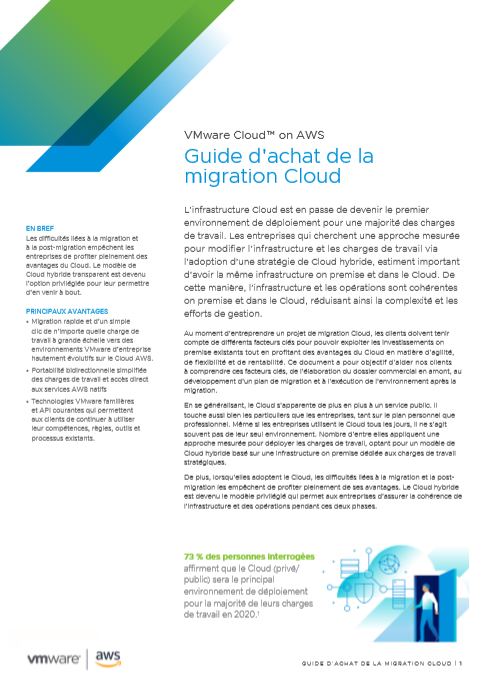 Guide d'achat de la migration cloud