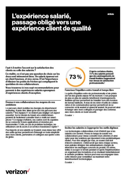Les 7 recommandations pour parvenir à des expériences salariés synonymes d'expériences clients d'exception