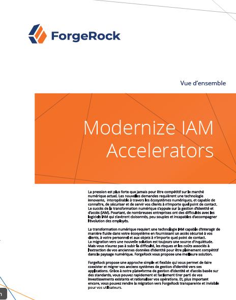 Moderniser les accélérateurs IAM