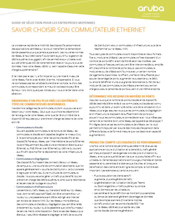 Guide de sélection pour les entreprises moyennes – Savoir choisir son commutateur Ethernet