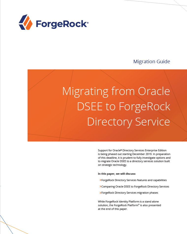 Migration d'Oracle DSEE vers le service ForgeRock Directory
