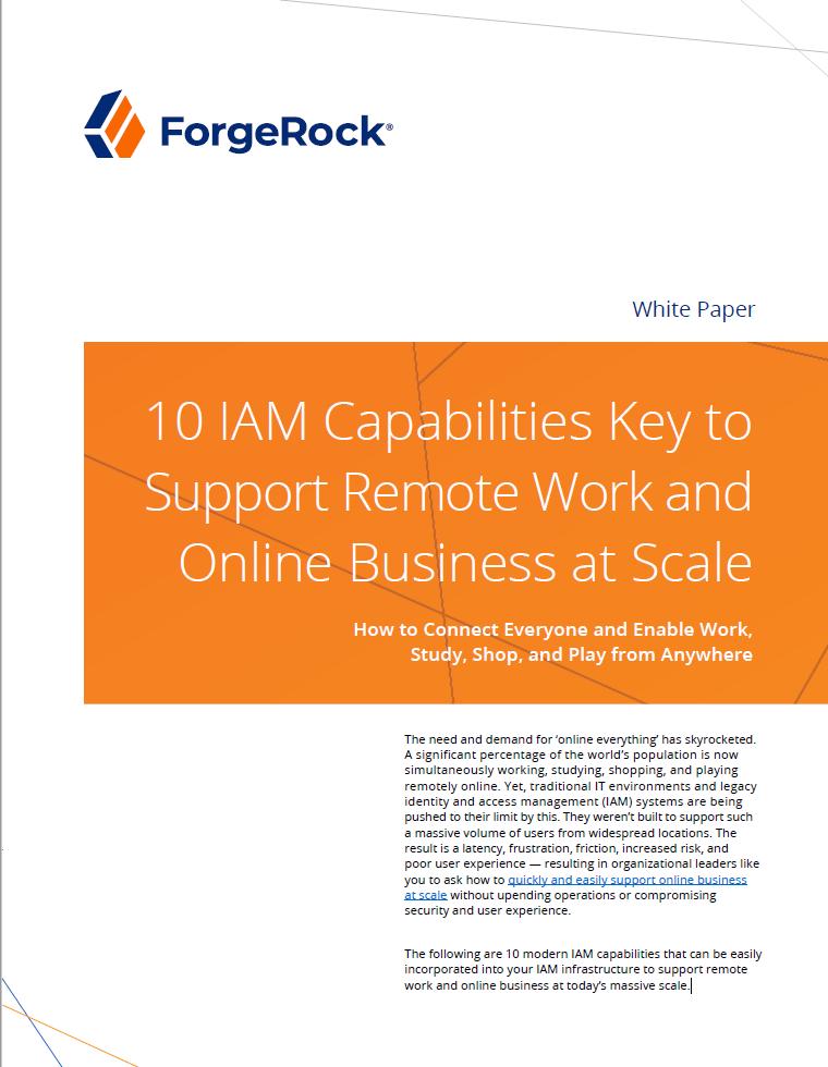 10 capacités IAM essentielles pour soutenir le travail à distance et le commerce en ligne à l'échelle