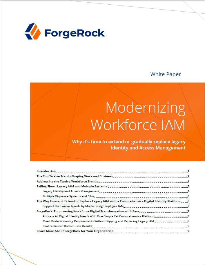 Modernisation de la main-d'œuvre IAM