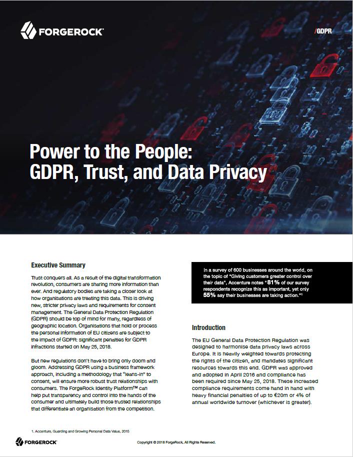 Le pouvoir au peuple : GDPR, confiance et confidentialité des données
