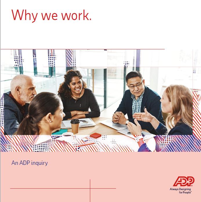 Pourquoi nous travaillons.