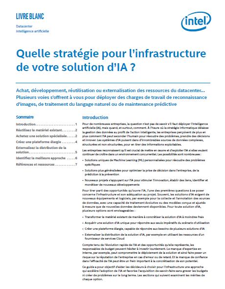 Quelle stratégie pour l'infrastructure de votre solution d'IA?