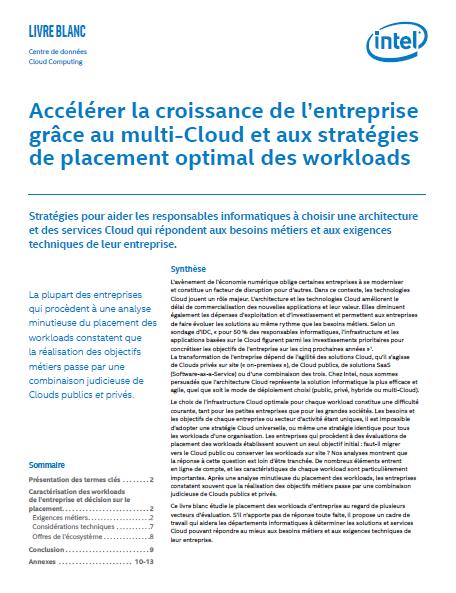 Accélérer la croissance de l'entreprise grâce au multi-Cloud et aux stratégies de placement optimal des workloads