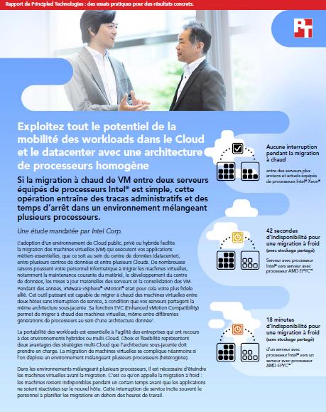 Exploitez tout le potentiel de la mobilité des workloads dans le Cloud et le datacenter avec une architecture de processeurs homogène