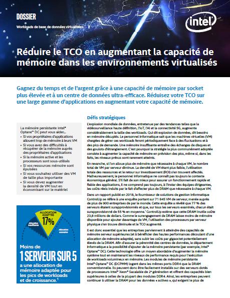 Réduire le TCO en augmentant la capacité de mémoire dans les environnements virtualisés