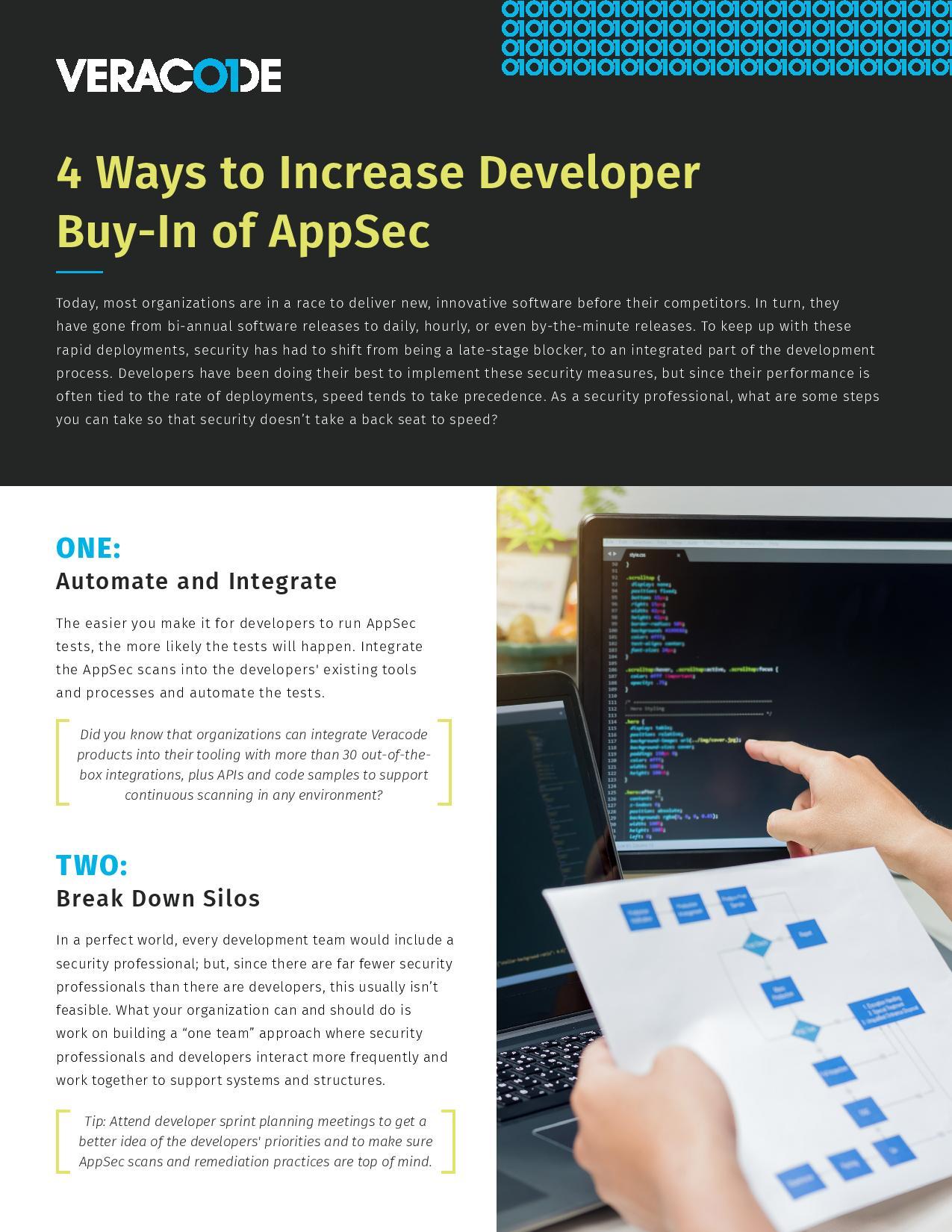 4 façons de favoriser l'adhésion des développeurs à l'AppSec