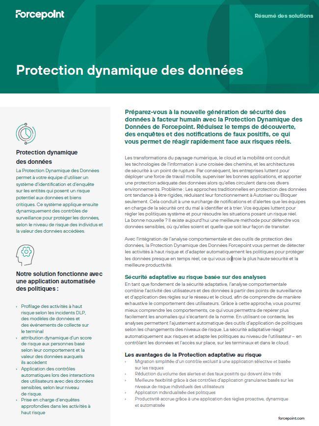 Protection dynamique des données