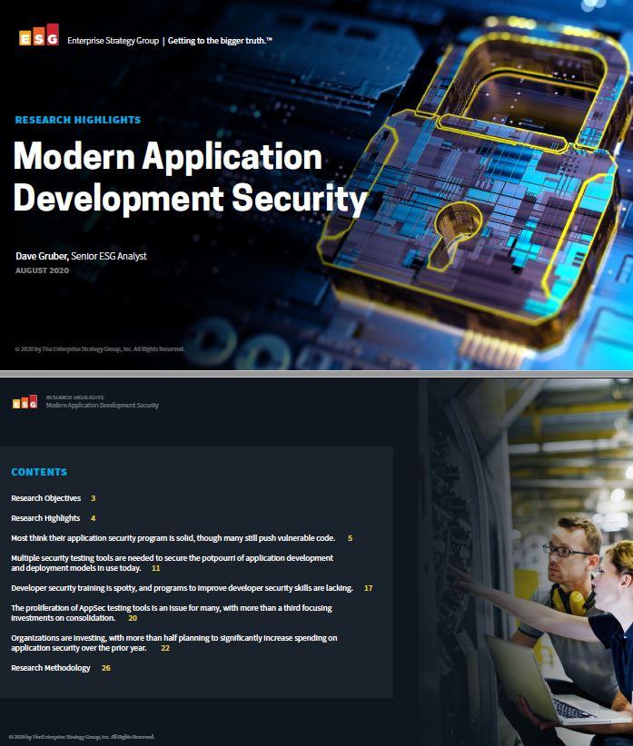 Sécurité du développement d'applications modernes