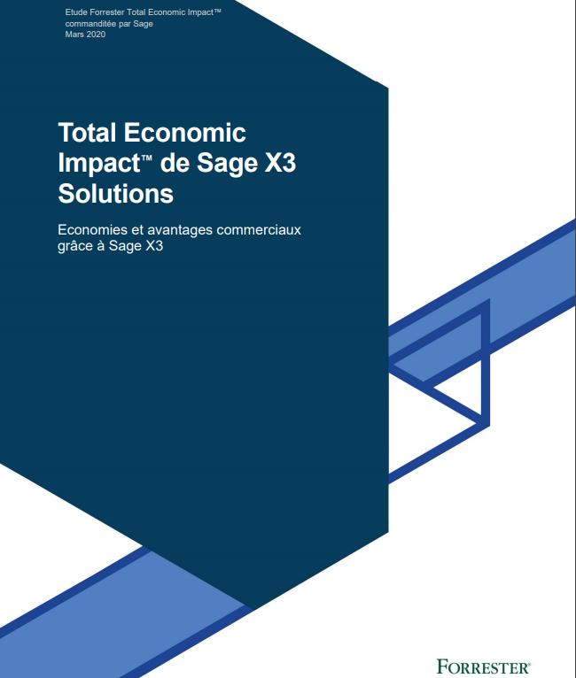 Total Economic Impact™ de Sage X3 Solutions