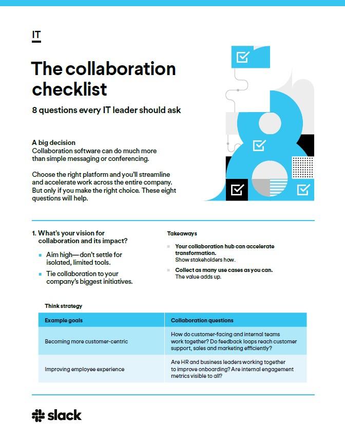 Évaluer les logiciels de collaboration : 8 questions que chaque responsable informatique devrait se poser