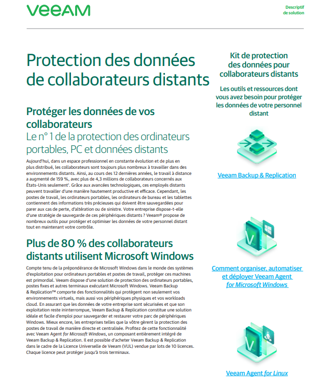 Protection des données de collaborateurs distants