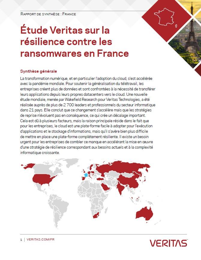 Étude Veritas sur la résilience contre les ransomwares en France