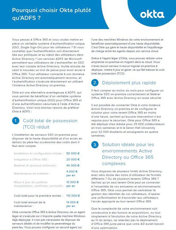 Comparaison : Okta et Active Directory