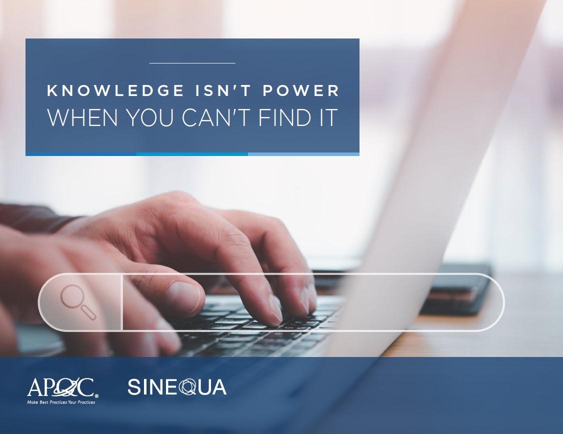 La connaissance ne vaut rien si on ne peut pas la trouver