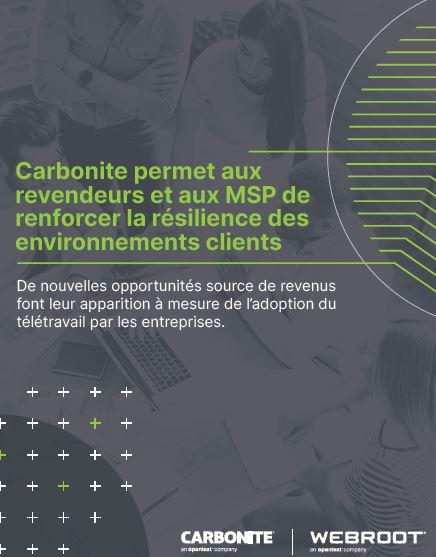 Carbonite permet aux revendeurs et aux MSP de renforcer la résilience des environnements clients