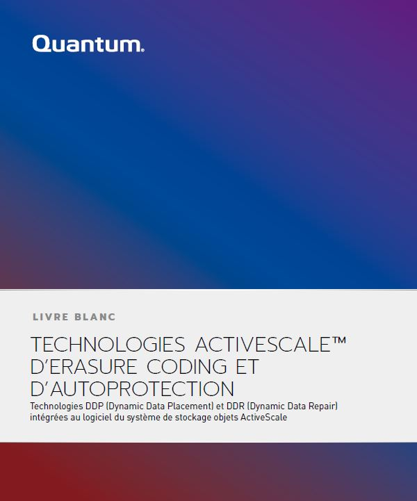 Technologies ActiveScale™ d'Erasure Coding et d'Autoprotection