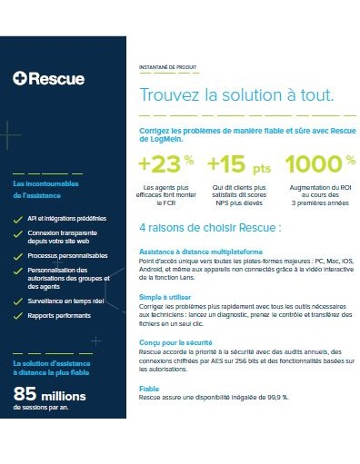 Les incontournables de l'assistance Rescue by LogMeIn™