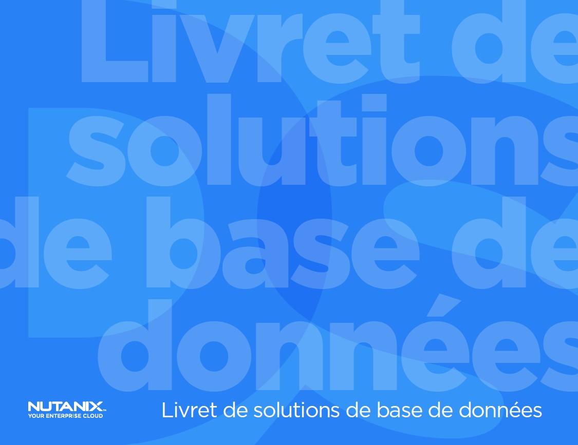 Livret de solutions de base de données