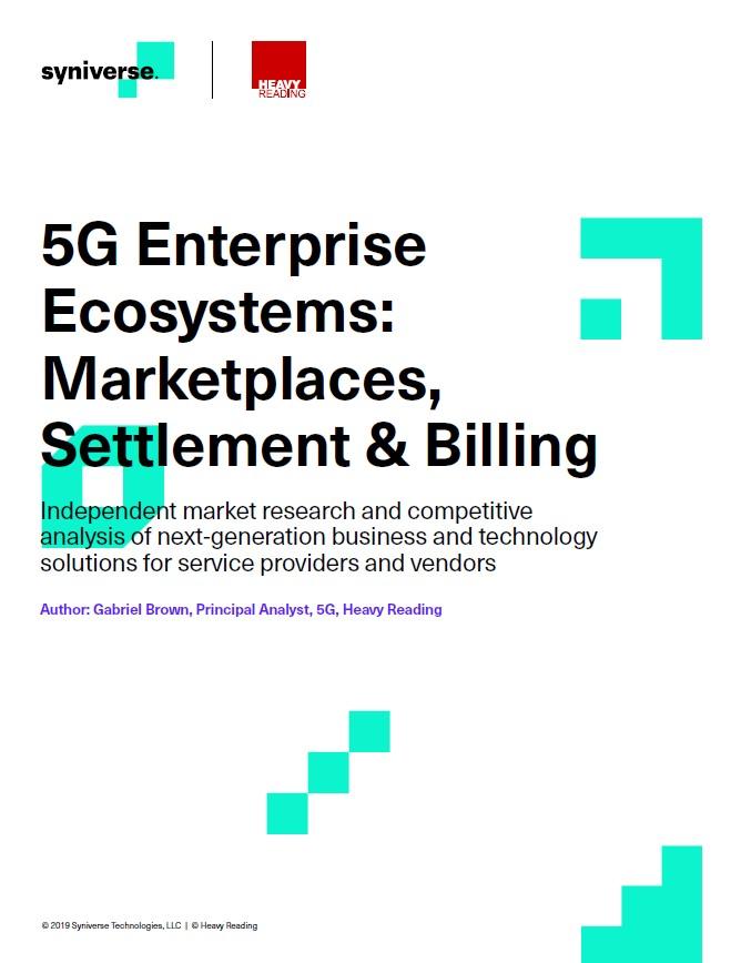 Écosystèmes d'entreprise 5G: marchés, règlement et facturation