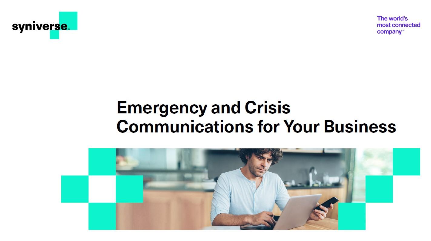 Communications d'urgence et de crise pour votre entreprise