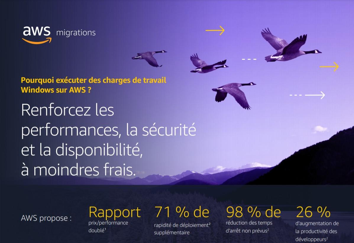 Économisez de l'argent en migrant les charges de travail Windows vers AWS