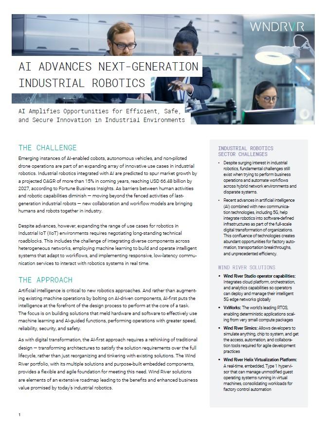 L'IA fait progresser la robotiques industrielles de nouvelle génération