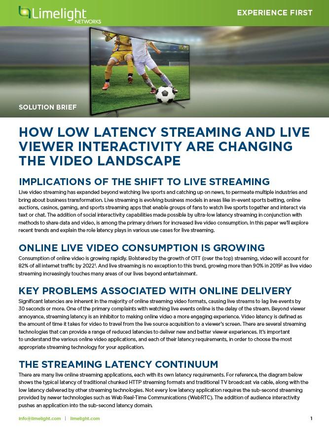 Comment le streaming à faible latence et l'interaction en direct des téléspectateurs changent le paysage vidéo
