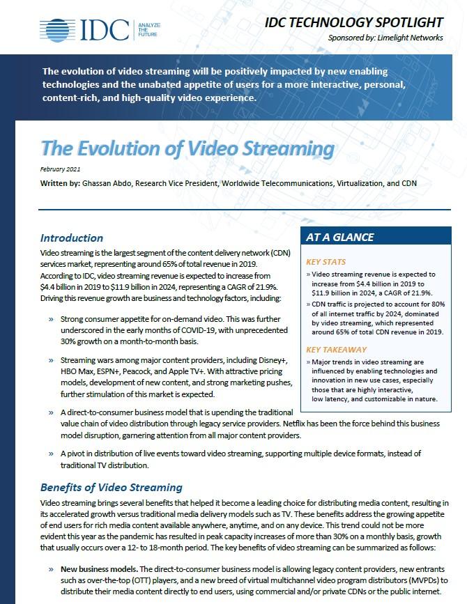 L'évolution du streaming vidéo
