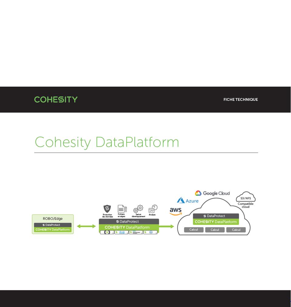 La DataPlatform proposée par SCC HPE et Cohesity