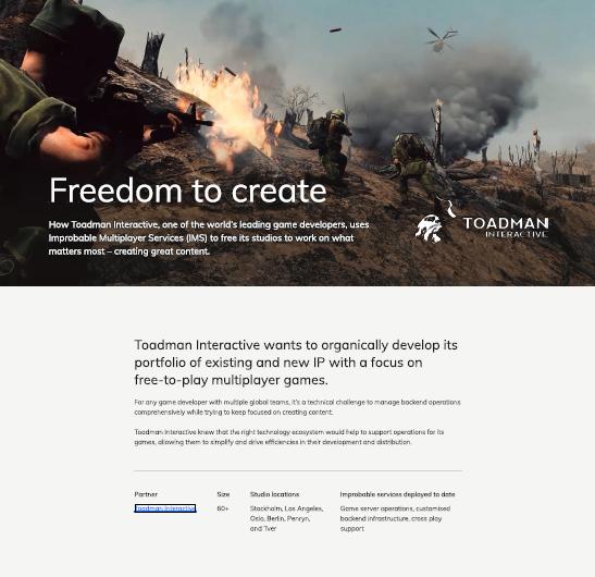 Liberté de créer – Comment Toadman Interactive utilise l'IMS pour créer des contenus de qualité