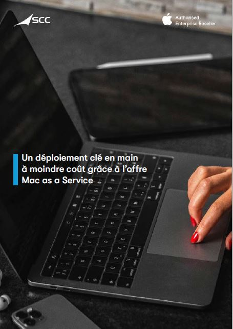 Un déploiement clé en main à moindre coût grâce à l'offre Mac as a Service.