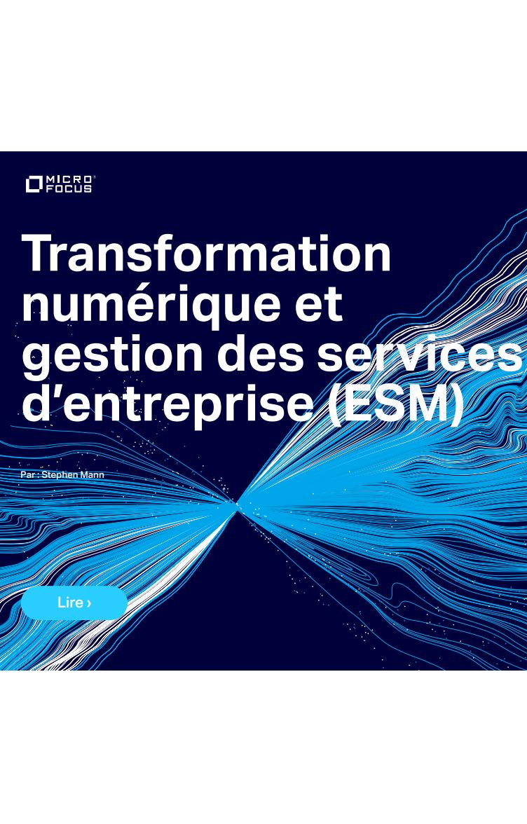Transformation  numérique et  gestion des services  d'entreprise (ESM)